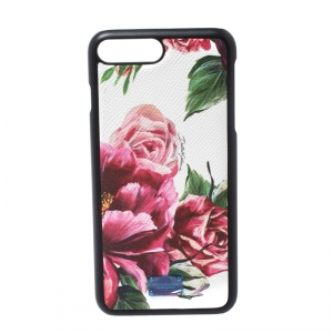 Dolce and Gabbana Multicolor Floral Print Leather iPhone 7/8 Plus Case