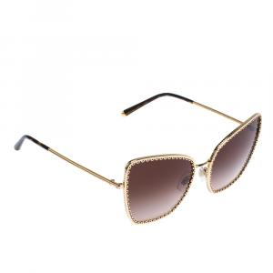 Dolce & Gabbana Gold/Brown Gradient DG2212 Sunglasses