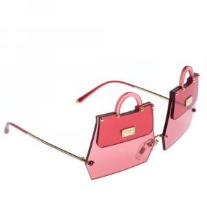 Dolce & Gabbana Transparent Red/Gold DG2218 SICILY BAG Sunglasses