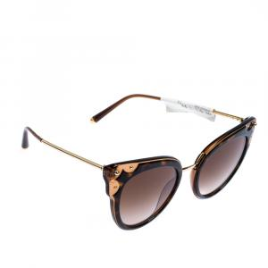 Dolce & Gabbana Havana/Brown Gradient DG4340 Sunglasses
