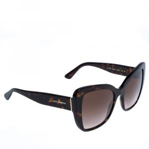 Dolce & Gabbana Brown Gradient/Havana DG4348 Sunglasses