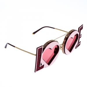 Dolce & Gabbana Red/Gold DG2217 LOVE Sunglasses