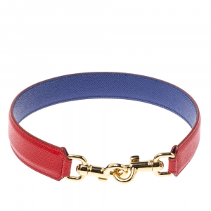 Dolce & Gabbana Red/Blue Leather Shoulder Bag Strap