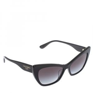 Dolce & Gabbana Black/ Grey Gradient DG 4370 - F 501/8G Cat Eye Sunglasses