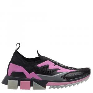 Dolce & Gabbana Black Sorrento Logo Sneakers Size 37.5