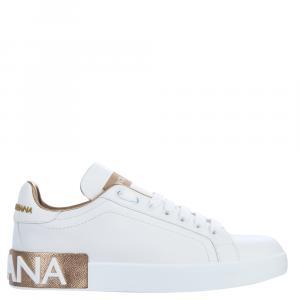 Dolce & Gabbana White Portofino Sneakers Size EU 37