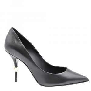 Dolce and Gabbana Black DG Logo Pumps Size EU 38.5
