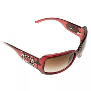 Dolce and Gabbana Brown DG 6053-G Embellished Square Sunglasses
