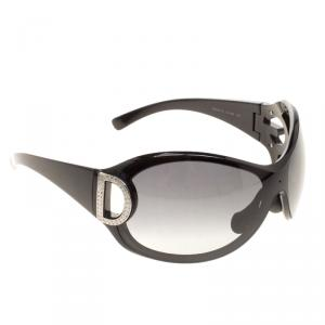 Dolce and Gabbana Black DG6024-B Crystal Embellished Shield Sunglasses
