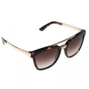 Dolce and Gabbana Dark Brown Tortoise DG 4269 Wayfarer Sunglasses