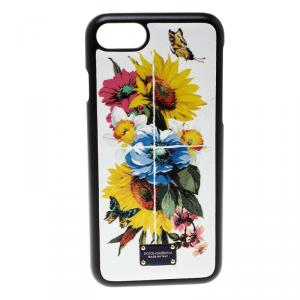 Dolce and Gabbana Flower Printed Dauphine Leather Iphone 7 Case