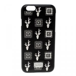 Dolce and Gabbana Black Cactus Print iPhone 6 Case