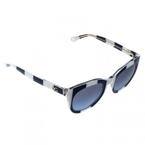 Dolce and Gabbana Blue and White Striped DG4249 Wayfarer Sunglasses