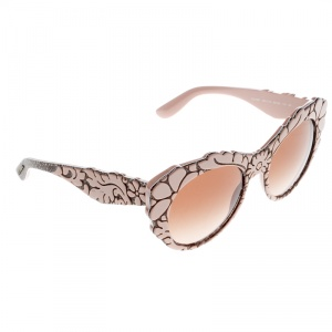 Dolce and Gabbana Pink/Brown Gradient DG4267 Brocade Cat Eye Sunglasses