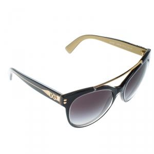 Dolce & Gabbana Balck/Gold Gradient DG 4280 Oversized Sunglasses