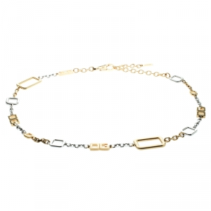 Dolce and Gabbana Two Tone Chain Link Belt