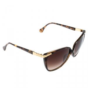 Dolce and Gabbana Havana/Brown Gradient DD 8096 Cat Eye Sunglasses