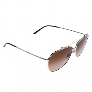 Dolce & Gabbana Two Tone Metal/ Brown Gradient DG-2190 Aviator Sunglasses