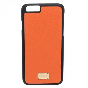 Dolce & Gabbana Orange/Black Leather iPhone 6 Case