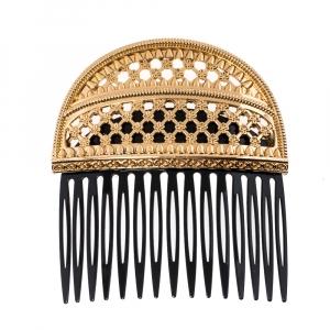 Dolce & Gabbana Gold Tone Hair Comb