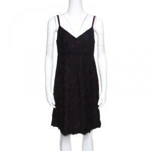 Dolce & Gabbana Black Floral Lace Sleeveless Dress M used