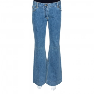 Dolce & Gabbana Blue Light Washed Denim Flared Jeans L