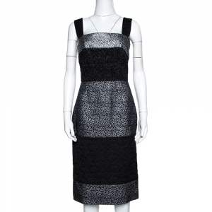 Dolce & Gabbana Black and Silver Broad Strap Dress S - used