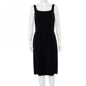 Dolce & Gabbana Black Crepe Sleeveless Sheath Dress L - used