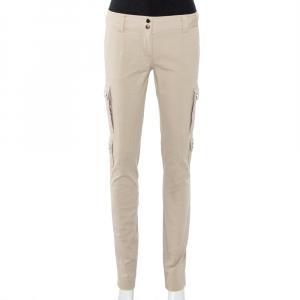 Dolce & Gabbana Beige Cotton & Silk Cargo Pants S - used