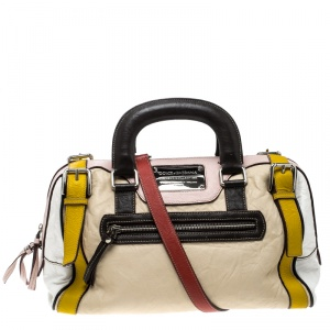 Dolce and Gabbana Multicolor Leather Miss Easy Way Boston Bag