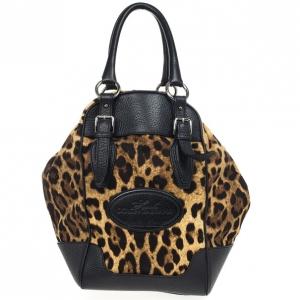 Dolce and Gabbana 'Animalier' Duffel Satchel Handbag