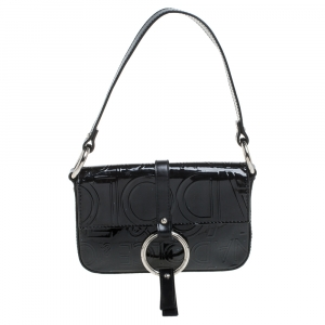 Dolce & Gabbana Black Patent Leather Pochette Bag