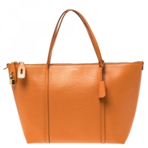 Dolce & Gabbana Orange Leather Miss Escape Tote