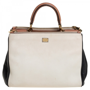 Dolce & Gabbana Multicolor Leather Sicily Double Zip Top Handle Bag