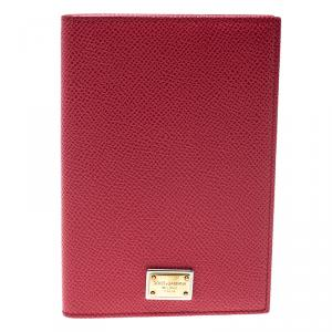 Dolce and Gabbana Red Leather Passport Holder