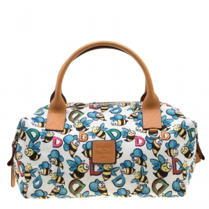 Dooney & Bourke Multicolor Bumble Bee Canvas Satchel