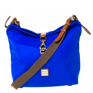 Dooney & Bourke Blue Nylon Annie Sac Crossbody Bag
