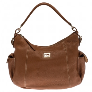 Dooney & Bourke Tan Pebbled Leather Hobo