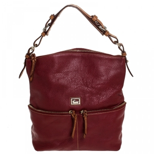 Dooney and Bourke Burgandy Leather Shoulder Bag