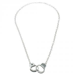 Dsquared2 Little Handcuffs Silver Tone Chain Necklace