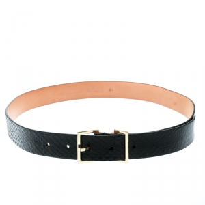 Dsquared2 Black Python Belt Size 85 CM