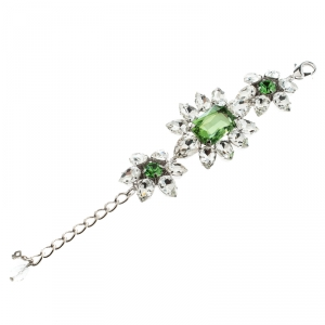 Dsquared2 Crystal Flower Silver Tone Bracelet