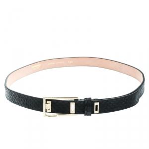 Dsquared2 Black Python Belt Size 100 CM