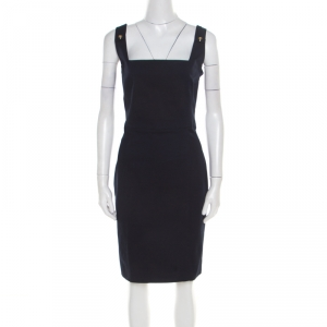 Dsquared2 Navy Blue Cotton Sleeveless Dress L - used