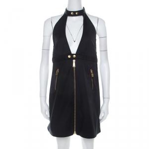 Dsquared2 Black Stretch Cotton Backless Halter Mini Dress M - used