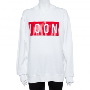 Dsquared2 White Icon Print Sweatshirt XL