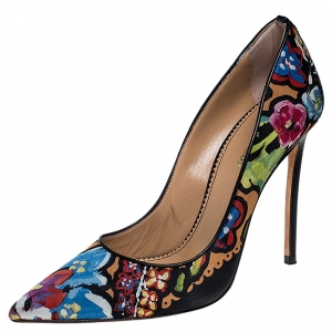 Dsquared2 Floral Print Fabric Pointed Toe  Pumps Size 38