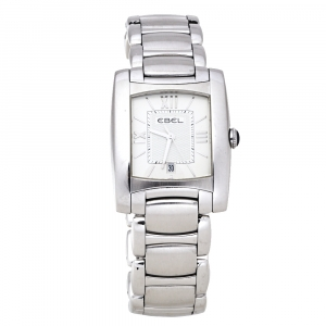Ebel Silver Stainless Steel Brasilia E9257M32 Women's Wristwatch 27 mm