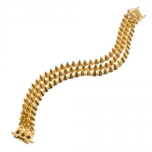 Eddie Borgo Mini Cone Triple Strand Gold Tone Bracelet