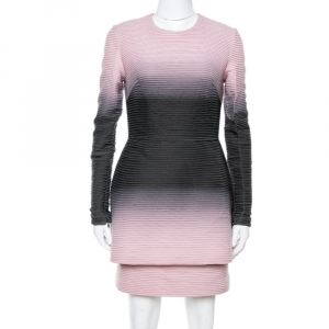 Elie Saab Pink Ombre Ribbed Layered Dress S - used